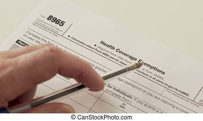 IRS Form 8965 Health Coverage Exemptions - An anonymous...