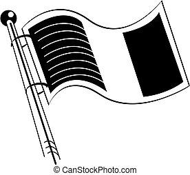 irsk, kunst, hæfte, flag, irland, eller