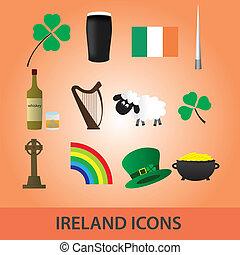 irsko, ikona, dát, eps10