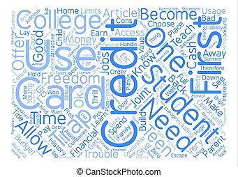 Is a Student Credit Card Actually a Credit Trap text background word cloud concept