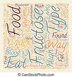 Is Fructose The Cause Of Obesity text background wordcloud concept