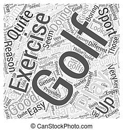 Is Golf a Good Form of Exercise Word Cloud Concept