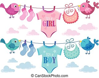 Is it a girl or boy topic 3 - eps10 vector illustration.