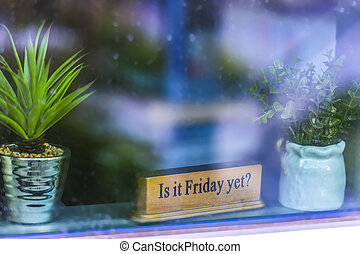 Is it friday yet sign in window