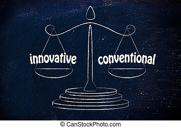 find a good balance for your business between innovative and conventional