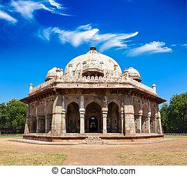 Isa Khan Tomb in Humayun's Tomb Complex. Delhi, India