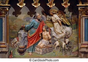 isaac, abraham, sacrificar