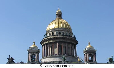 isaakiy cathedral church in Saint-petersburg, Russia - zoom...