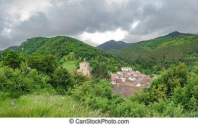 Isaba village top view