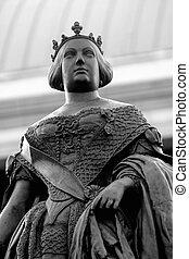 Isabel II statue - Statue of Isabel II queen of Spain (10....