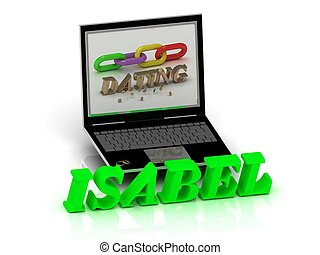 ISABEL- Name and Family bright letters near Notebook and...
