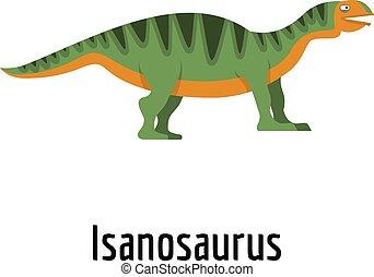 Isanosaurus icon, flat style.