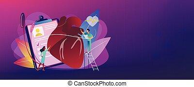 Ischemic heart disease concept banner header.