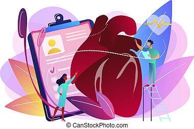 Ischemic heart disease concept vector illustration.