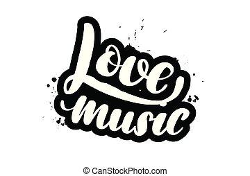 iscrizione, amore, spazzola, musica
