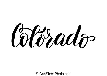 iscrizione, colorado, scritto mano