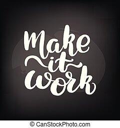 iscrizione, fare, lavoro, esso
