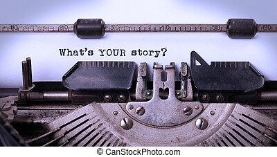 iscrizione, fatto, vecchio, macchina scrivere, vendemmia