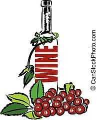 iscrizione, illustrazione, vino