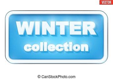 iscrizione, inverno, collezione