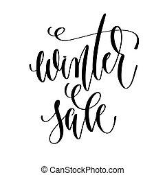 iscrizione, inverno, iscrizione, testo, -, vendita, mano