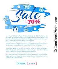 iscrizione, inverno, manifesto, vendita, etichetta, scontare