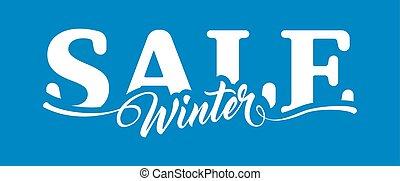 iscrizione, inverno, vendita