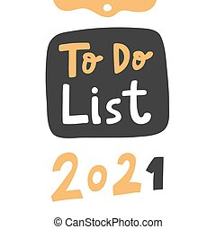 iscrizione, logotipo, 2021., media, elenco, mano, sociale, contenuto, disegnato