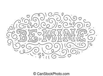 iscrizione, mano, miniera, essere
