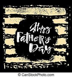 iscrizione, motivazione, concetto, poster., padri, mano, giorno