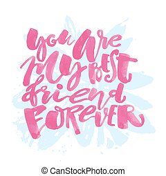 iscrizione, motivazione, poster., amicizia, giorno