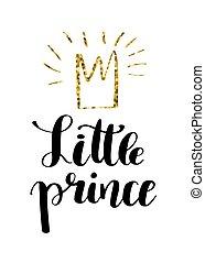 iscrizione, poco, citazione, mano, disegnato, principe