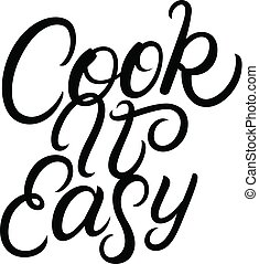 iscrizione, quote., esso, mano scritta, facile, cuoco