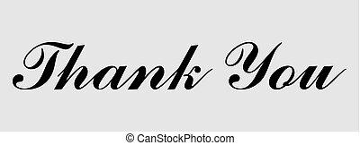 iscrizione, ringraziare, testo, vettore, lei, bandiera, icon., scheda
