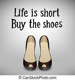 iscrizione, scarpe