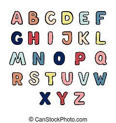 iscrizione, stile, mano, graffito, alfabeto