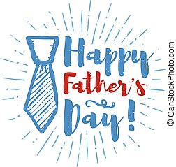 iscrizione, sunbursts, illustrazione, padre, fondo., vettore, giorno, felice