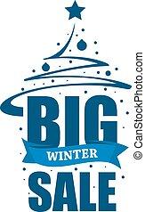 iscrizione, vendita, grande, inverno