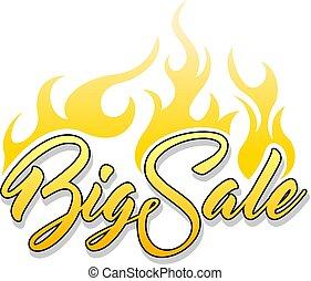 iscrizione, vendita, grande