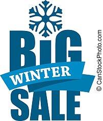 iscrizione, vendita, inverno, grande