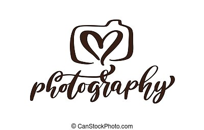 iscrizione, vettore, sagoma, testo, fotografia, isolato, calligraphic, macchina fotografica, fondo, logotipo, bianco, icona