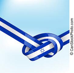 ISDRAEL ribbon flag