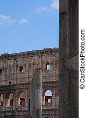 iselliptical, italy., ローマ, amphitheatre, colosseum