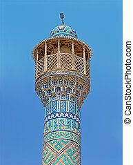 Isfahan mosque minaret - Old mosque minaret in Isfahan Iran,...