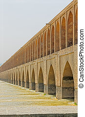 Isfahan Zayandeh river bridge