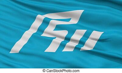 Ishikawa Prefecture Close Up Flag - Flag of Ishikawa...