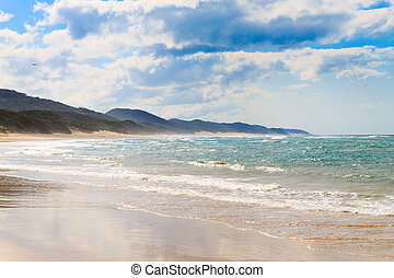 Isimangaliso Wetland Park beach, South Africa. South African...