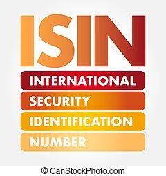 ISIN - International Security Identification Number acronym,...