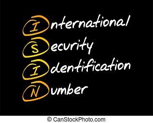 ISIN - International Security Identification Number acronym...