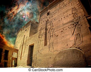 Isis Temple and Orion Nebula (Elements of this image...